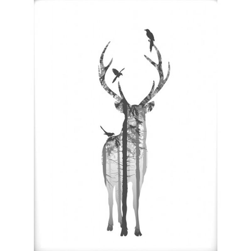 hjort 50 x 70 cm