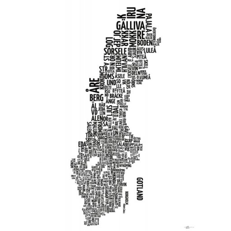 Sveriges kommuner 50x70 cm