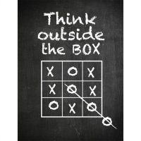 Think outside the box 50x70 cm